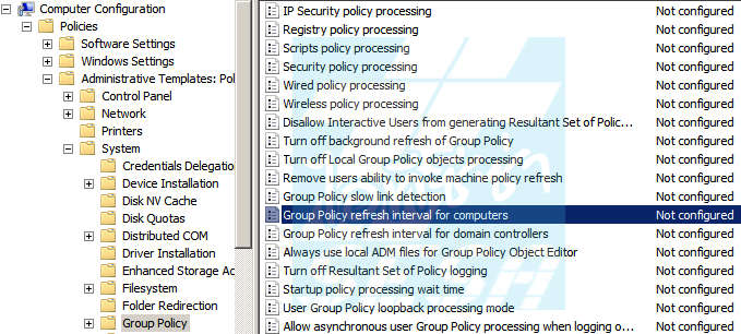 Group Policy Refresh Interval