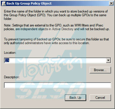 Back Up Group Policy Object