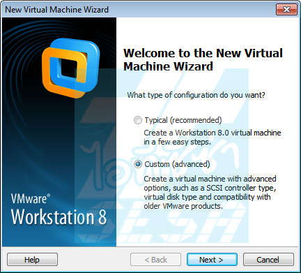 Custom Virtual Machine Wizard