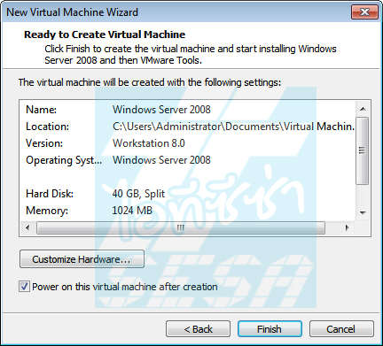 Ready to Create Virtual Machine