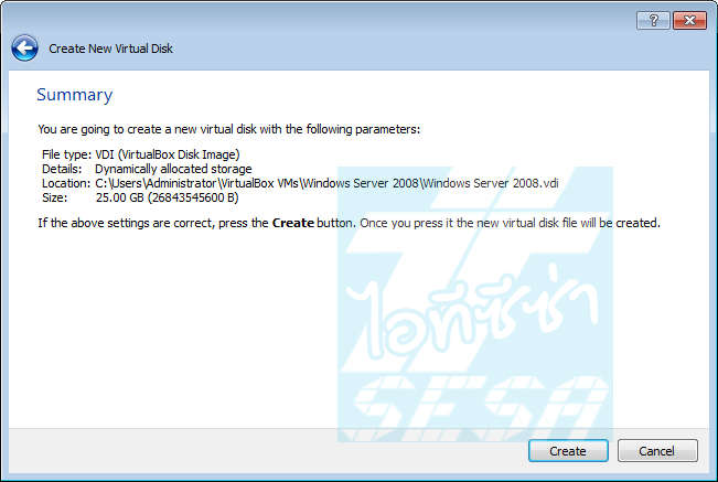 Create new virtual machine in Oracle VirtualBox