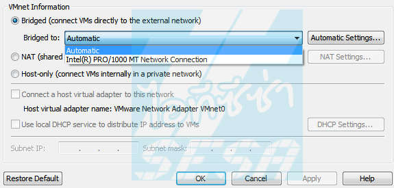 VMware Bridged Network