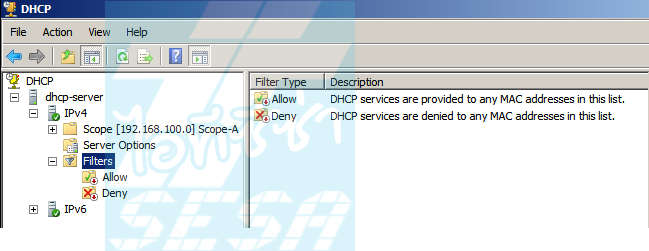 DHCP Filters