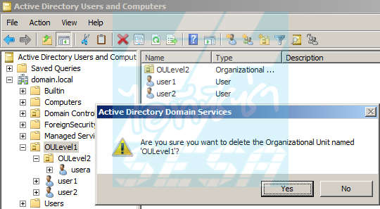 Delete Object in Active Directory