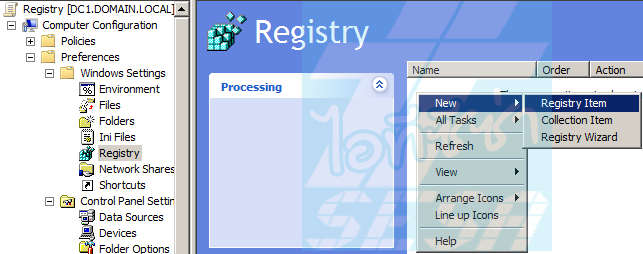 Preference Registry Policy