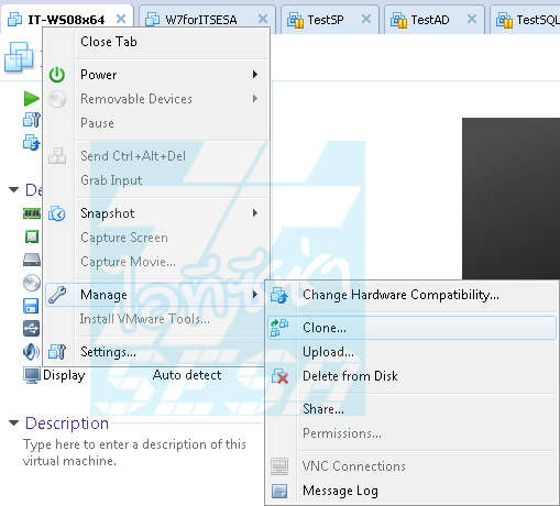 Clone VMware Workstation