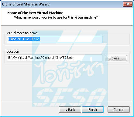 Name of the New Virtual Machine