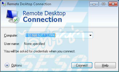 Remote Desktop Connection with Custom Port