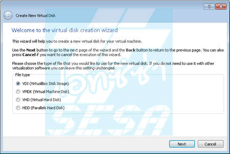 Disk Creation Wizard