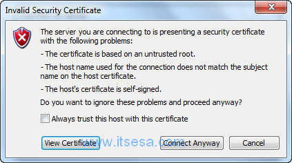 Certificate Warning