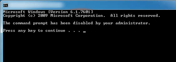 Disable Command Prompt