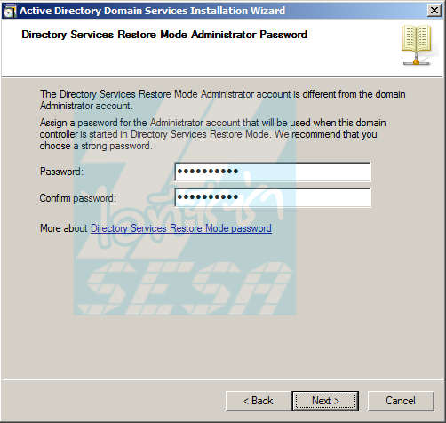 Directory Services Restore Mode Administrator Password
