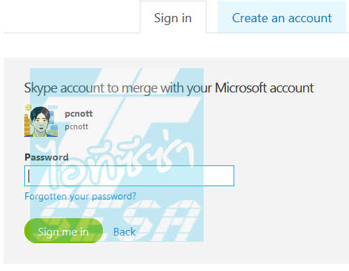 Enter your Skype Password
