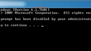 Disable the Command Prompt