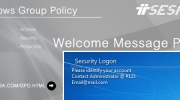 Logon Message Policy